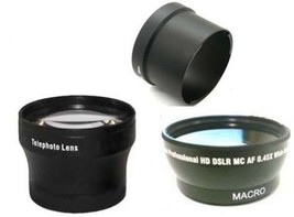 Wide Lens + Tele Lens + CLA-12 Tube Adapter bundle for Olympus XZ-1 XZ-2 - $48.50