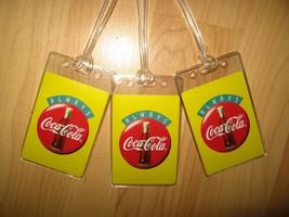 Coca Cola Luggage Tags - Always Coke Soda Pop Bottle Logo Suitcase Tag Set (3) - $19.79