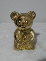 Leonard Silverplate Vintage Teddy Bear and Cub Coin Piggy Bank Baby Gift... - $21.04