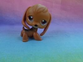 Hasbro Littlest Pet Shop Light Brown Brick Red Eyes Beagle Puppy Dog #16 - $117,12 MXN
