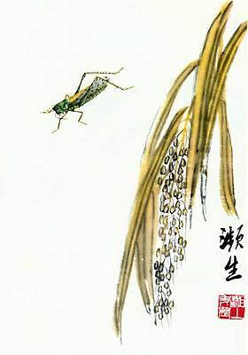Primary image for Grasshopper 15x22 Chinese Print by Ch'i Pai-shih Asian Art