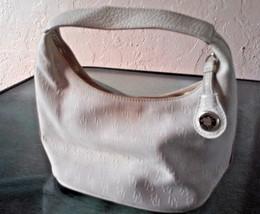 Dooney & Bourke Small Logo Signature Fabric Handbag Off White Cream Light Beige - $32.30