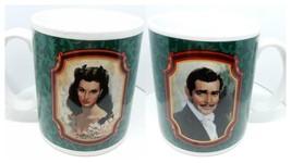 Gone with the Wind Mug Set Scarlett O'Hara Rhett Butler Heirloom Traditi... - $28.10