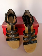AEROSOLES Size 10 M  CHEWBILEE Black Leather Sandals  New in Box - $49.49