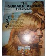 Vintage Summer Blonde Print Magazine Advertisement 1971 - $3.99
