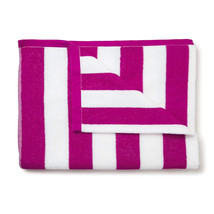 Jumbo Havana Stripe Cabana Beach Pool Cotton Towel 30 x 60 Magenta 4 Pack - $962,44 MXN