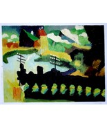 WASSILY KANDINSKY, Unique Oil Painting by hand after MURNAU 1909, Gift R... - $195.00