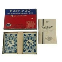 Kan-U-Go 1930s Crossword Card Game in Box for 2-7 Players Made in USA Vi... - $13.85