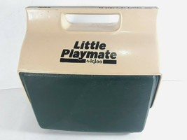 Vintage Little Playmate by Igloo Cooler Green 6 pack Capacity Made in USA - $36.33