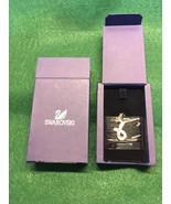 Swarovski Crystal Breast Cancer Pink Ribbon Charm - $44.00