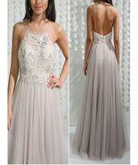 Sleeveless Prom Dress, Open Back Prom Dress Sexy Vintage Prom Dress, Pr... - $256.00