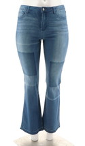 Women with Control My Wonder Patchwork Boot Cut Jeans Washed 16 NEW A298543 - $35.62