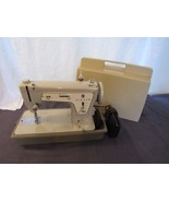 Singer 237 Sewing Machine Heavy Duty Fashion Mate With Case Tested To Work  - $133.76