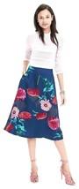 Banana Republic Gerber Daisy Midi Skirt, size 14, NWT - $75.00