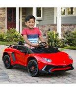 KID'S 12V RED OR ORANGE LAMBORGHINI AVENTADOR W/ HORN & LED LIGHTS FREE ... - $469.00