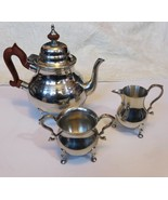 3 Pc Tea Set Moroccan style by Kirk Stieff Pewter Colonial Williamsburg  - $297.00