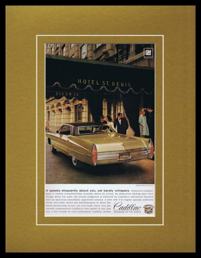 Primary image for 1968 Cadillac Framed 11x14 ORIGINAL Vintage Advertisement