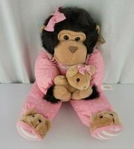 Plush Creations Inc Stuffed Plush Monkey Ape Chimp Gorilla Pink Pajamas ... - $148.49