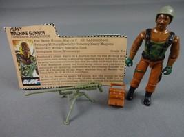Vintage GI JOE Action Figure 1984 Roadblock 100% w Peach File Card - $22.16