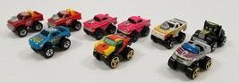N) Vintage Lot of 9 Road Champs Mini Monster Wheels Die Cast Cars 1980s - $19.79