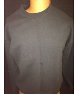 Jerzees Black Long Sleeve Sweatshirt Size Large Bin #41 - $13.10