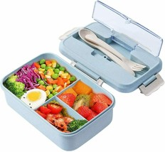 HOT Lunch Box, 3 Compartment Sealed Bento Box and Cutlery Set Lunch Boxes - $15.43