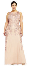 Adrianna Papell Vine Beaded Dress with Illusion Back - $148.49+