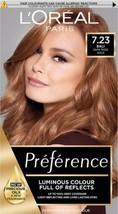 L'oreal Preference 7.23 BALI Dark Rose Gold Blonde Brown Permanent Hair Dye  - $20.88