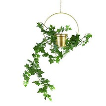 Fieren Metal Plant Hanger,Hanging Plant Pot,Metal Round Hanging Planter,... - $24.25