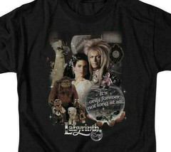 Labyrinth David Bowie Fantasy Cult film Retro 80s adult graphic t-shirt LAB137 image 2