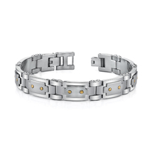 Stainless Steel & 18K Gold Wrist Hugging Bracelet - $79.99