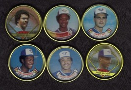 1987 - 90 Topps coins Toronto Blue Jays McGriff Bell Key Fernandez Barfield - $1.50