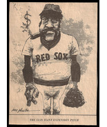 Luis Tiant Red Sox Sports Cartoon Vintage Newspaper Clipping Baseball Sk... - $11.99