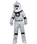 Robot Space Future Cyborg Man Silver Fancy Dress Halloween Deluxe Adult ... - $68.48