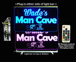 Personalized LED Fishing Man Cave Sign- Camping Sign, Bar sign, - $94.05+