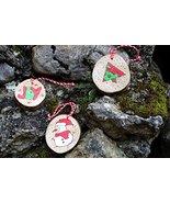 Customized Holiday Decoration   Unique Tree Ornaments   Set of 3 Handmad... - $15.99