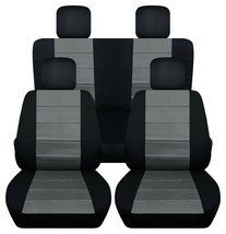 Front and Rear car seat covers Fits Jeep wrangler JL 2018-2020  black-charcoal - $159.99