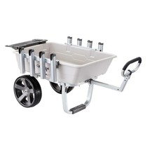 Outdoor Garden Wagon with Tool Slots 5 cu feet Functional Foldable Fishi... - $189.19