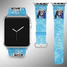 Frozen Disney Apple Watch Band 38 40 42 44 mm Fabric Leather Strap - $29.97