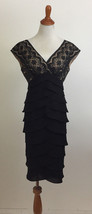 Adrianna Papell Sleeveless Formal Tiered Dress sz 4 - $46.52