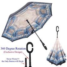 Inverted Umbrella Cars Reverse Umbrella, Double Layer Hands-Free Umbrell... - $31.91