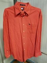 VTG Tommy Hilfiger Button Down Red Window Pane Plaid Mens Casual Shirt X... - $29.35