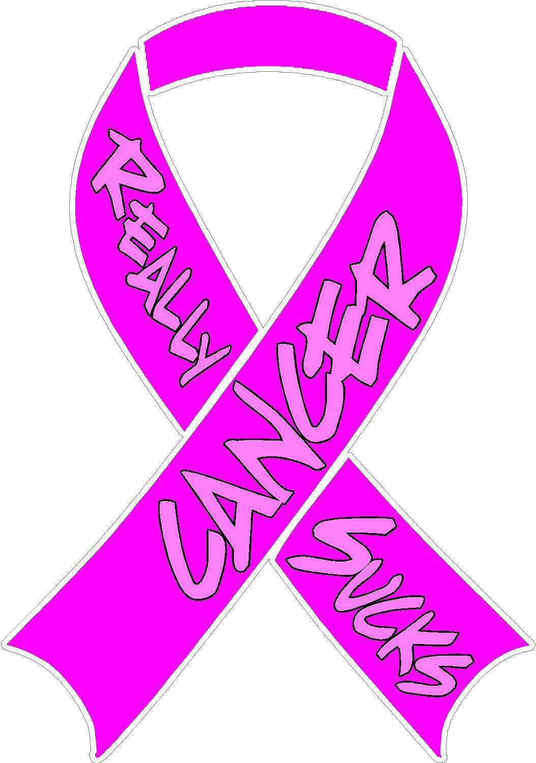 Primary image for CANCER REALLY SUCKS PINK RIBBON VINYL DECAL WINDOW STICKER FREE SHIPPING
