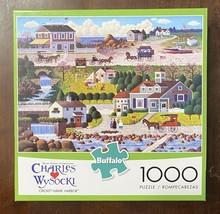 Charles Wysocki Puzzle - CRICKETHAWK HARBOR - 1000 Piece Buffalo Games w... - $14.55