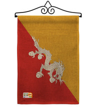 Bhutan Burlap - Impressions Decorative Metal Wall Hanger Garden Flag Set... - $33.97