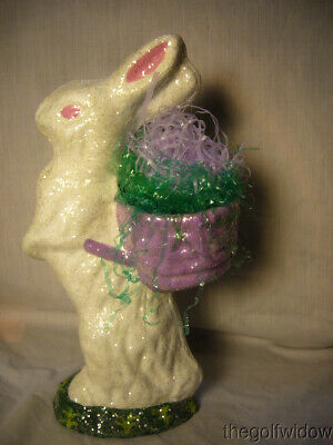 Handmade Christopher James Paper Mache Standing White Duck for Easter