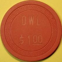 $1 Casino Chip, Owl Club, Battle Mountain, NV. 1956. S90. - $8.50