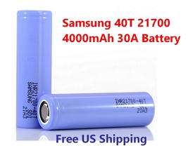 1 x Samsung 40T 21700 4000mAh 30A Lithium Li-Ion rechargeable batteries ... - $12.09