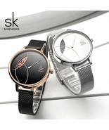 SK® Watch Shengke Women Fashion Creative Lady Casual Watches Stainless S... - $27.35+