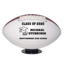 Personalized Custom Class of 2020 Graduation Regulation Football Black Text - $59.95